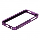 Zomgo Stylish Protective Aluminum Alloy Bumper Frame Case for IPHONE 5 / 5S - Purple