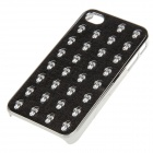 Protective Skull Pattern Plastic Case for IPHONE 4 / 4S - Black + Silver