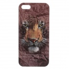 C200007 Animal Series Tiger Style Protective Plastic Back Case for IPHONE 5 / 5S - Brown