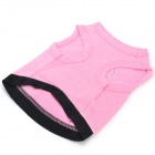 M-0002 Cotton Waist Coat for Pet - Pink (Size S)