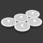 78T DIY Plastic Gear for Model - White (5 PCS)
