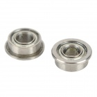 DIY 3mm Shielded Stainless Steel Flanged Bearing Ball for Model Robot Toy - Silver (2 PCS)
