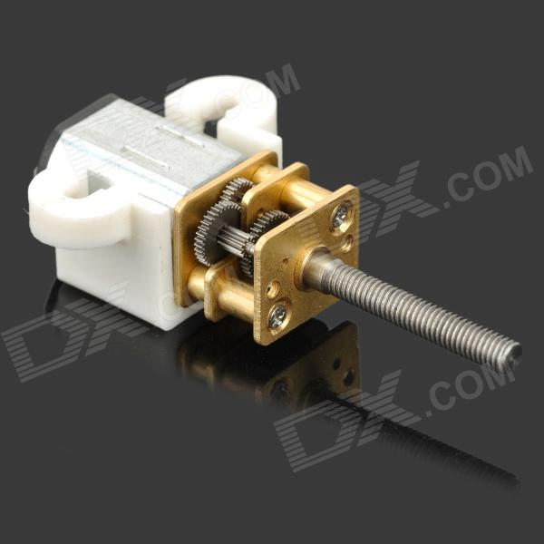 DIY N20 Screw Thread Speed Reducer Gear Motor w/ Fixing Support for Model - Silver + Yellow
