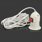 US Plug E27 Connector Socket w/ Switch + 228cm Cable - White
