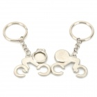 Cute Lovely Zinc Alloy Couple's Keychain - Silver (2 PCS)