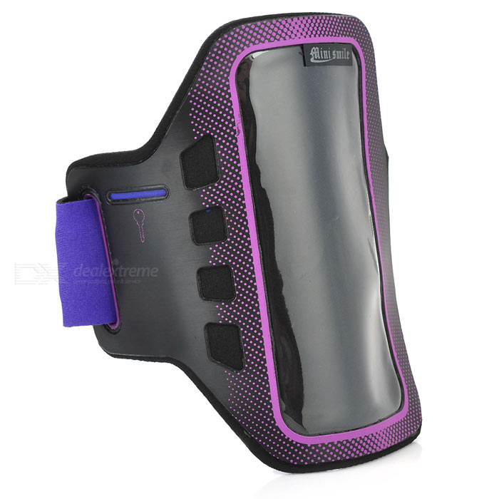 Sunshine Sports Gym Neoprene Armband Case for Samsung Galaxy S5 i9600 - Purple + Black sunshine sports velcro protective arm bag for samsung galaxy s5 i9600 red black