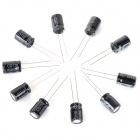 10V/1000UF Electrolytic Capacitors - Black (10 PCS)