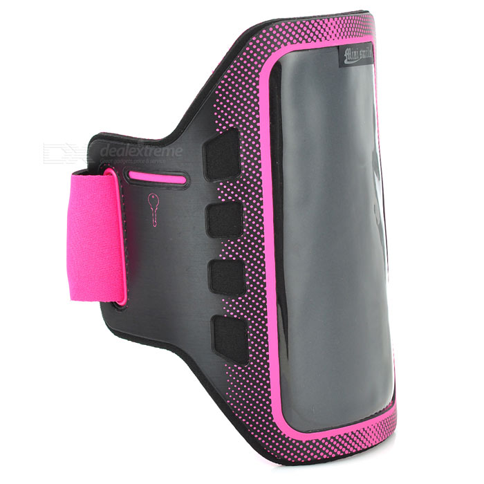 Sunshine Sports Gym Neoprene Armband Case for Samsung Galaxy S5 i9600 - Deep Pink + Black sunshine sports velcro protective arm bag for samsung galaxy s5 i9600 red black