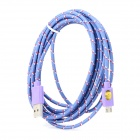 USB Data Transmission Nylon Cable for Google Nexus 7 / Nexus 7 II - Purple (3m)