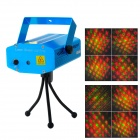 Zweihnder WMXL-081 Mini 8-Pattern Red / Green Laser Stage Light w/ Tripod - Blue