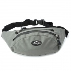 LKLR SPO-6603 Outdoor Waterproof Nylon Waist Bag - Grey