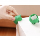Cute Frog Style Silicone Anti Collision Angle Guard Set for Kids - Green (Pair)