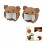 Cute Bear Styl Silicone Anti Collision Angle Guard Set for Kids - Coffee (Pair)