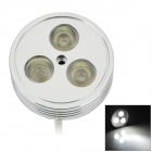 DIY Waterproof 6W 90lm 6000K 3-LED White Car Decorative Lamp - Silver (12V)