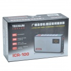 Tecsun ICR-100 1.1'' Screen Digital Multi-Media Music Player w/ FM / 2GB TF - Black + Silver Grey