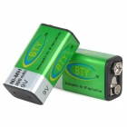 BTY 9V Rechargeable 280mAh 9V Ni-MH Battery - Green + Silver (2 PCS)