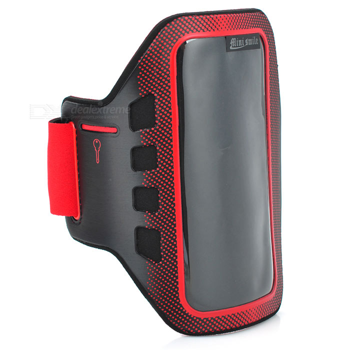Sunshine Sports Gym Neoprene Armband Case for Samsung Galaxy S5 i9600 - Red + Black sunshine sports velcro protective arm bag for samsung galaxy s5 i9600 red black