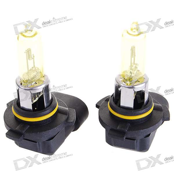 9005 100W Yellow Car Light Bulbs (2-Pack/DV 12V)