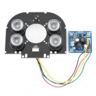 CJWY-158 12V 48W 60-Degree Infrared Array Camera LED Light Board - Black