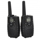"F-667 462.5625-462.725MHz 2W / 0.5W 1.0"" LCD 8-CH Walkie Talkie Set - Black"