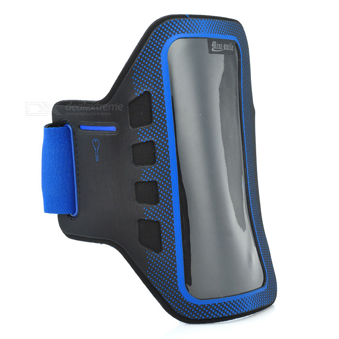 Sunshine Sports Gym Neoprene Armband Case for Samsung Galaxy S5 i9600 - Blue + Black sunshine sports velcro protective arm bag for samsung galaxy s5 i9600 red black
