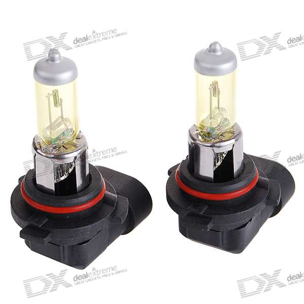 9006 100W Yellow Car Light Bulbs (2-Pack/DV 12V)