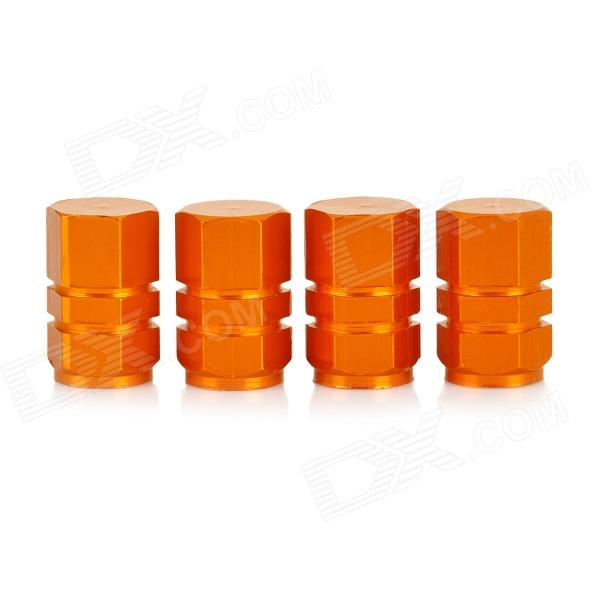 INFORMYI YFY-11 Aluminum Alloy Car Tire Valve Caps - Golden (4 PCS)