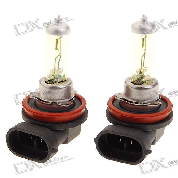 H11 100W Yellow Car Light Bulbs (2-Pack/DV 12V)