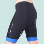 TOP CYCLING SAK206 Silicone Pad Cycling Quick-Drying Short Pants - Black + Blue (Size XXL)