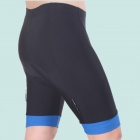 TOP CYCLING SAK206 Silicone Pad Cycling Quick-Drying Short Pants - Preto + Azul (Tamanho XXL)