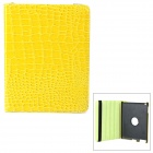 Crocodile Grain Style Protective 360 Degree Rotation PU Leather Case for IPAD 2 / 3 / 4 - Yellow