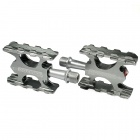 Super Light Magnesium Alloy Chrome Steel MTB Flat Pedals - Silver (Pair)