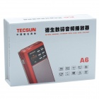 Tecsun A6 Digital Multi-Media Music Player Speaker w/ TF / FM Radio / Flashlight - Red