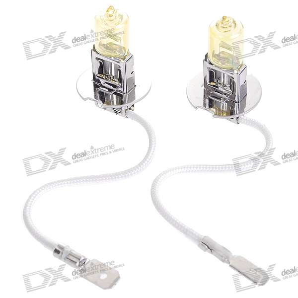 H3 100W Yellow Car Light Bulbs (2-Pack/DV 12V)