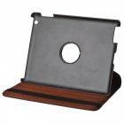 Crocodile Grain Style Protective 360 Degree Rotation PU Leather Case for IPAD 2 / 3 / 4 - Brown