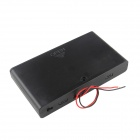 DIY 12V 8 x AA Battery Holder Case Box with Leads / Switch - Black