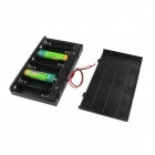 DIY 12V 8*AA Battery Holder Case Box with Leads / Switch - Black