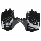 mad bike SK-05 Anti-Slip Half-Finger Bicycle Cycling Gloves - Black + White + Grey (Size M)