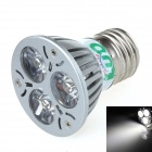 LUO V23 E27 3W 300lm 6000K 3-LED White Light Spotlight - Silver (95~245V)