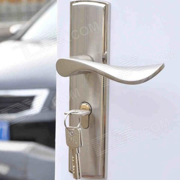 2351 Stylish Aluminum Double Tongue Handle Door Locks   Silver. 2351 Stylish Aluminum Double Tongue Handle Door Locks   Silver