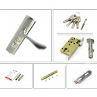 2351 Stylish Aluminum Double Tongue Handle Door Locks - Silver