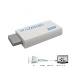 Portable Wii to HDMI 720P / 1080p Converter w/ HDMI Male to Male Cable - White