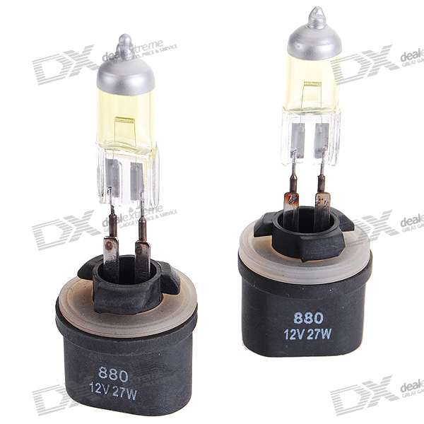 880 27W Yellow Car Light Bulbs (2-Pack/DV 12V)