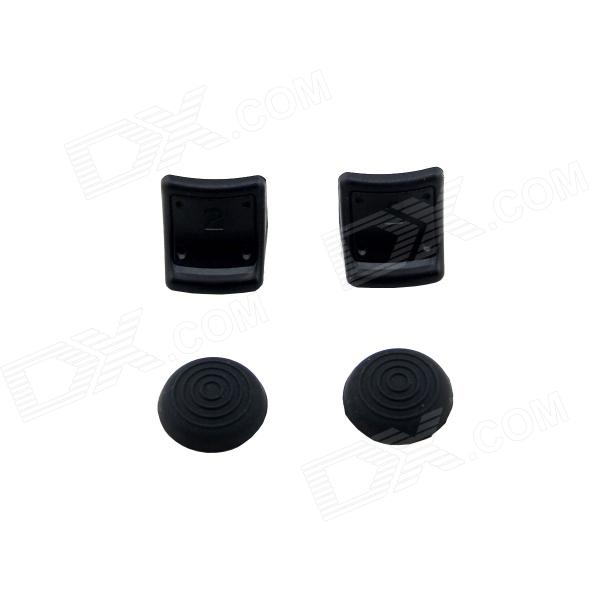 Sportguard Joystick Silicone Caps & Trigger Enhancements Protector for PS3 - Black arcade joystick diy kit usb encoder to pc ps2 ps3 arcade sanwa joystick sanwa push buttons for arcade mame