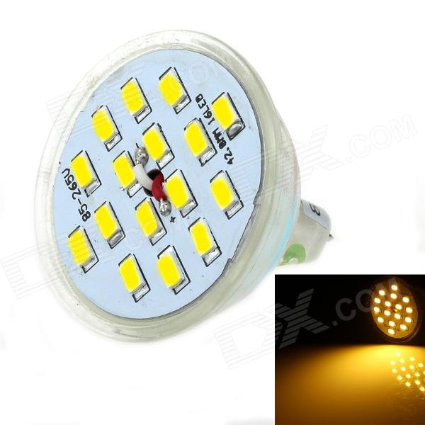 LUO DB06 MR16 8W 600lm 3000K 16 x 5630 SMD LED Warm White Light Spotlight (AC 85~265V) happiness толстовка
