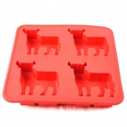 Cow Shaped Silicone Ice Lattice Ice Cubes Mold - Red