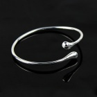 Elegante Simple Silver Plating pulsera - Plata