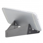 Multifunction Plastic Folding Desktop Holder for Cellphones / Tablets - Dark Grey + Black