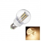 E27 6W 190lm 2700K 63-SMD 5050 LED Warm White Light Lamp Bulb (AC 220~240V)