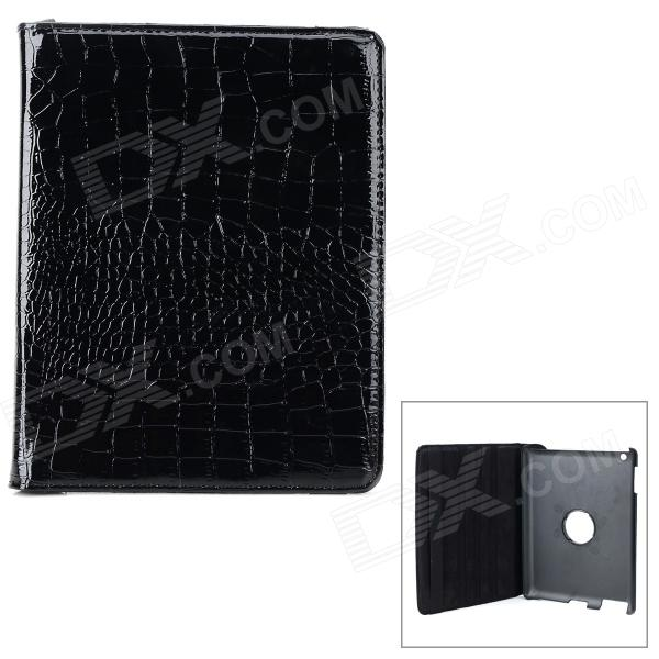 Crocodile Grain Style Protective 360 Degree Rotation PU Leather Case for IPAD 2 / 3 / 4 - Black crocodile grain style protective 360 degree rotation pu leather case for ipad 2 3 4 yellow